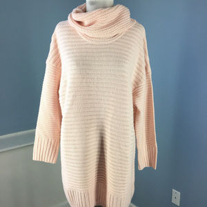 MAX STUDIO Nordstrom Pale Pink Ribbed Sweater 1x